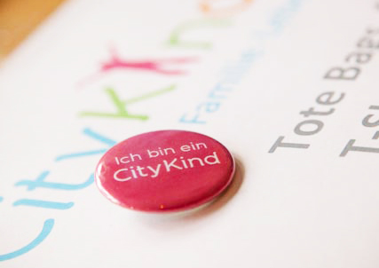 Button Ich bin ein CityKind from the German Community CityKinder in New York