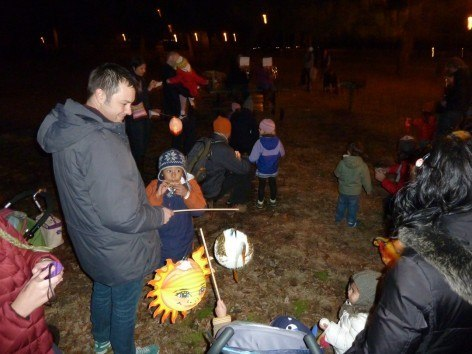 CityKinder Lantern Walk 2012 for German Kids in Prospekt Park, Brooklyn, New York