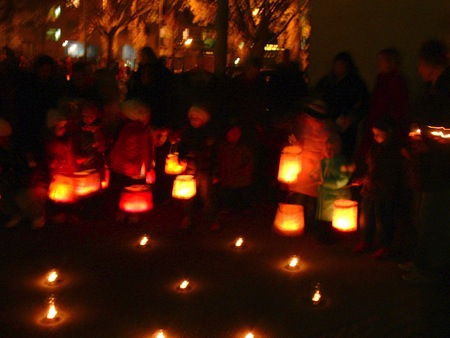 St. Martin Laternenlauf or Lantern Walk as a CityKinder German Family Event in New York