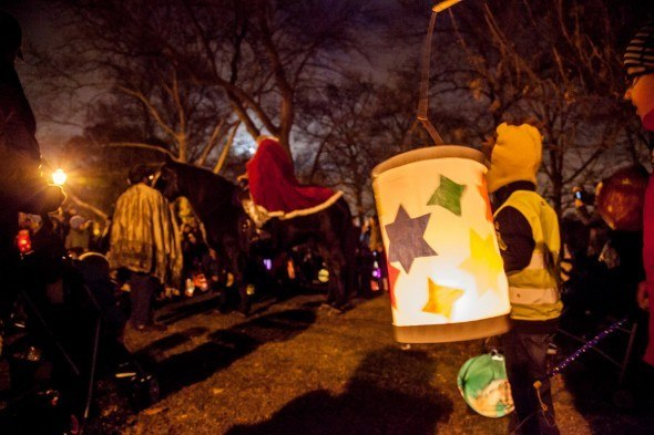 CityKinder Lantern Walk 2013 for German Kids in Prospekt Park, Brooklyn, New York