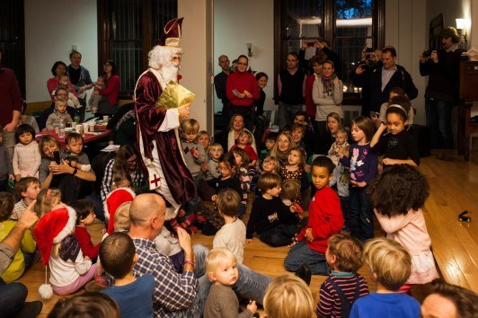 German Nikolaus Celebration as CityKinder Family Event in Manhattan New York