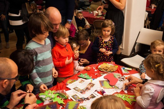 Nikolaus Party 2013 as a German CityKinder Family Event in Manhattan, New York