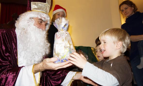 German Nikolaus Celebration as CityKinder Family Event in Manhattan New York