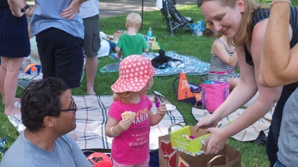 Summer Family Picnic 2013 in Central Park as a CityKinder German Event in New York
