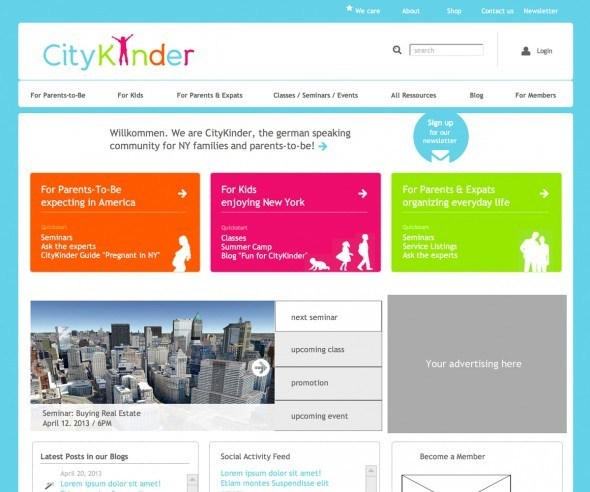Mock-Up Screenshot from the CityKinder 2.0 process