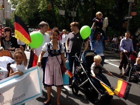 German American Steuben Parade as CityKinder Family Event in New York