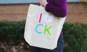 "CityKinder Organic Tote Bag ""I love CK"" in German Community Shop"