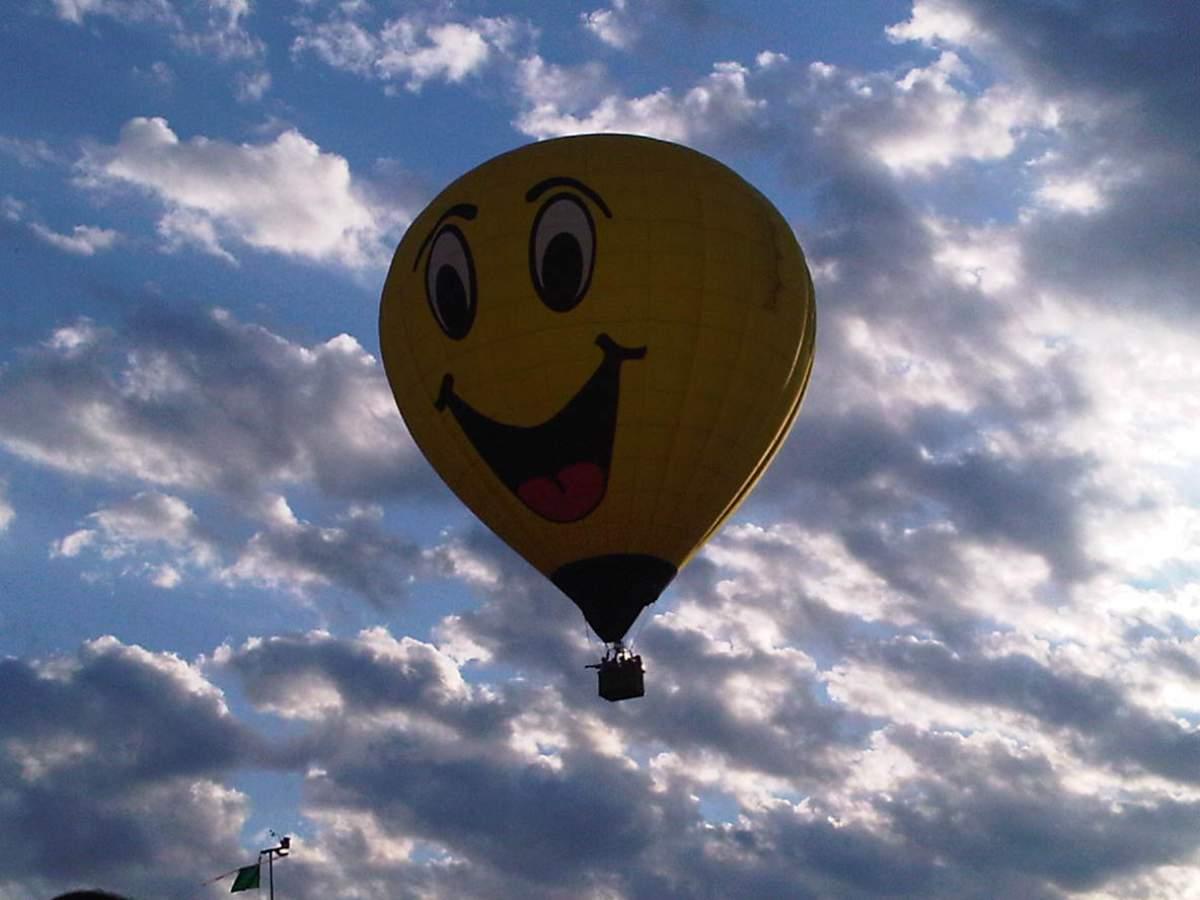 balloon in evening sky
