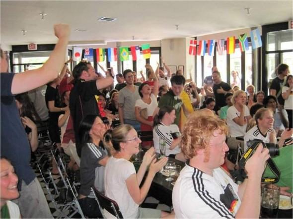 German football supporters at Die Stammkneipe