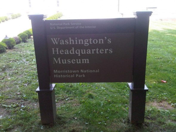 Sign post Washingtons' HQ
