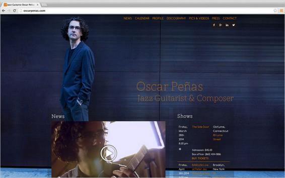 Screenshot Oscar Penas Jazz Guitarist and Composer