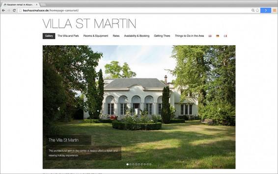 Screenshot Villa St Martin