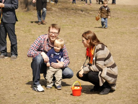 Family at Easter Egg Hunt Brooklyn