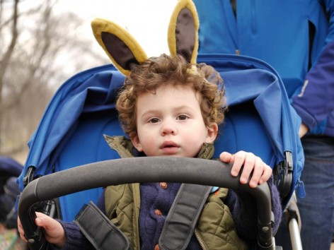 Kid with bunny ears at Easter Egg Hunt Session II
