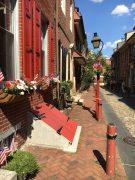 Elfreth's Alley, Philadelphia; am längsten bewohnte Straße der USA